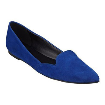 Blue smoking slipper