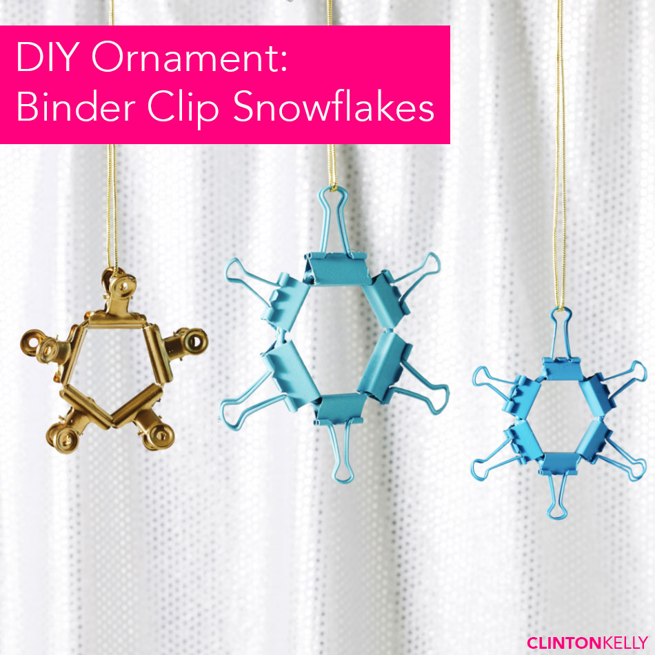 Binder Clip Snowflake Ornaments