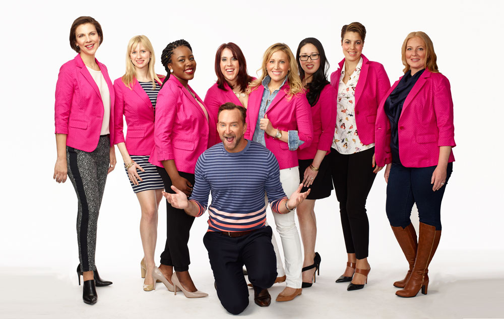 Clinton Kelly and his fashion designer fellows