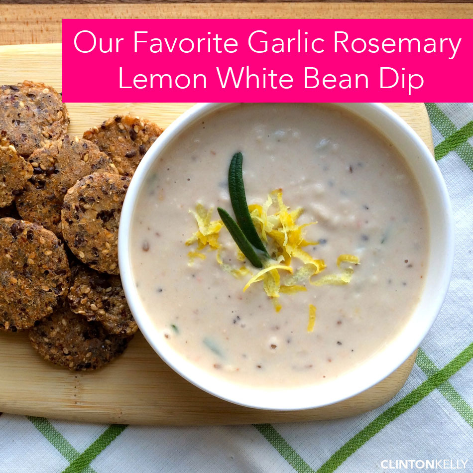 Garlic Rosemary Lemon White Bean Dip