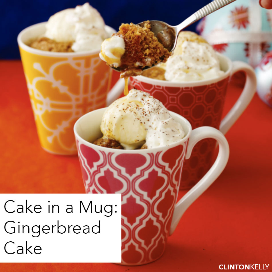 Gingerbread Cake in a Mug