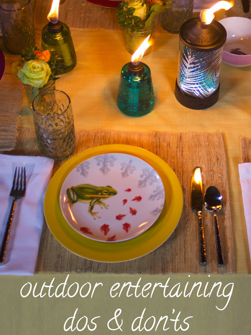 outdoor entertaining dos and don'ts