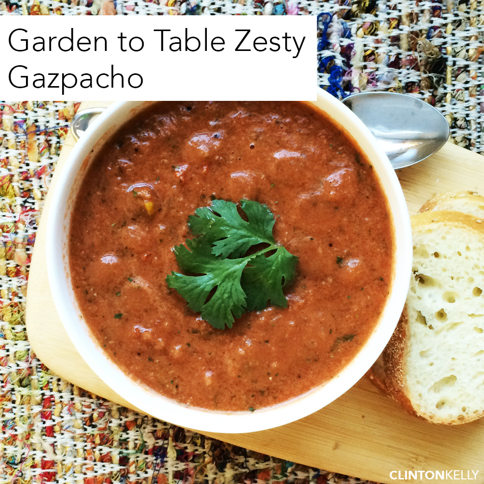 Zesty Gazpacho, Straight from the Garden