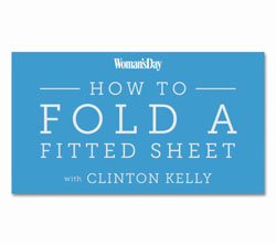 Clinton Kelly Woman's Day Fold a Fitted Sheet