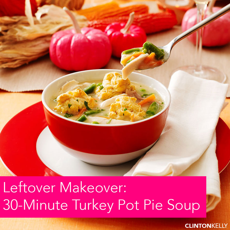 Leftover Turkey Pot Pie Soup
